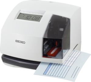 SEIKO TP-6 low cost  electronic time and date stamp machine